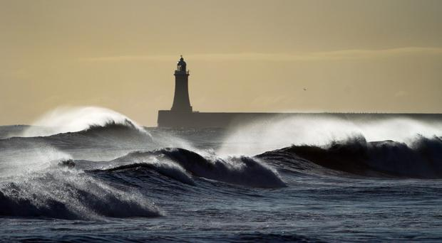 Strong winds and heavy rain is forecast (PA)