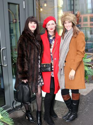 Rebecca Henderson, Katherine Farries and Jenny Craig at the launch of Fashionweek 2019 at Panama Cafe in Belfast yesterday