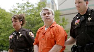 Steven Avery is escorted to the Manitowoc County Courthouse in Wisconsin for his sentencing in 2007. A documentary about his trial and incarceration has been a huge hit for Netflix