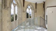Some of the apartments in the Chapel of the Resurrection include a viewing gallery