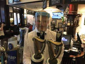 James McAlister, manager of the Morning Star Bar and Restaurant in Belfast. (Rebecca Black/PA)