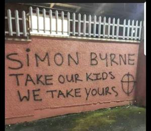 Graffiti after Byrne's threat to dissident republicans