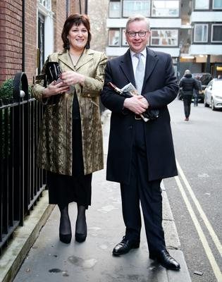 Gove and his wife, Daily Mail columnist Sarah Vine