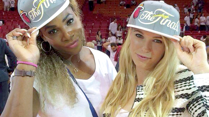 Pictures Caroline Wozniacki has posted online include her at a Miami Heat basketball game