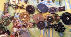 The array of door knockers and other items recovered by police