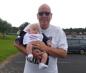 Mark Thompson with grandson Isaac