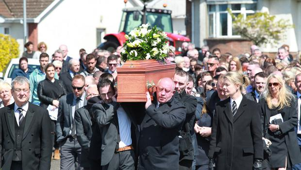 Another view of Aaron Henderson's funeral