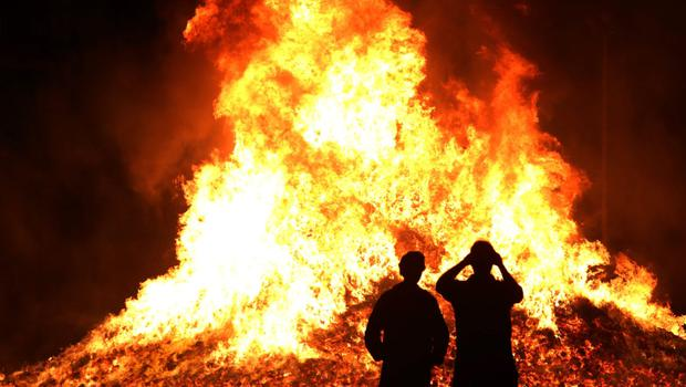 Bonfires continue to be a continuous issue.
