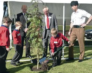 The Earl of Wessex planting a tree