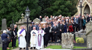 The funeral of Briege Currie at St Malachy's Church in Edendork