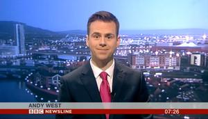 Reporter Andy West, a familiar face on BBC Newsline