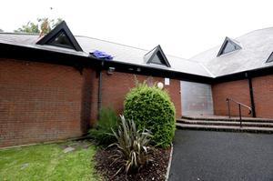 Damage to the roof of St Saviour's Church in Craigavon