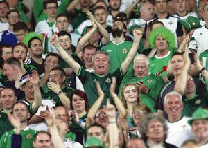 Hordes of smiling supporters who cheered on Northern Ireland in Greece last night