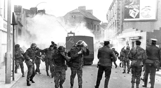 Rioting during Bloody Sunday in 1972