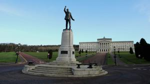The British and Irish Governments have met Stormont's political leaders to review power-sharing a year since it was restored (Niall Carson/PA)