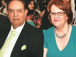 Dr Karamat Ullah Mirza and wife Estelle