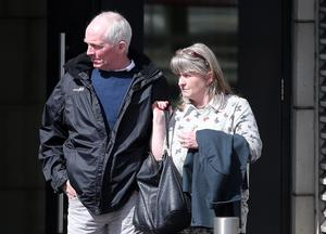 Paul and Pattie McElroy leaving the inquest into their son Stephen's death