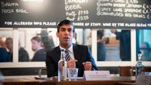 Job support: Chancellor of the Exchequer Rishi Sunak hosting a roundtable for business leaders in London yesterday