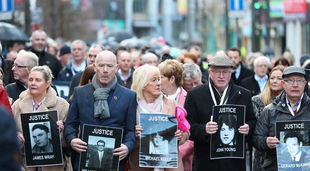 Relatives of the dead have sought to right the wrongs of false claims that their loved ones had been armed (Liam McBurney/PA).