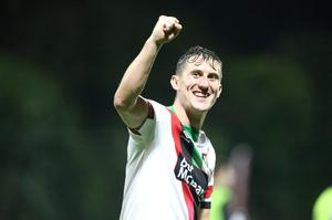 Marcus playing for the Glens