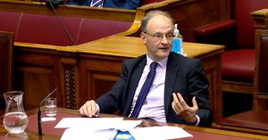 Peter Weir faced intense questioning on the exams controversy when he appeared at Stormont's education committee on Friday (NI Assembly/PA)