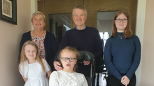Difficult: Flo McClements with husband Tom and three grand-daughters Grace, Lilia and Cassie