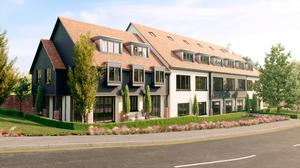 New build: An artist's impression of Farleigh Property's Mulberry Court development in Malone area of Belfast