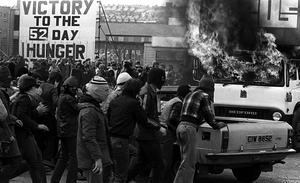 PACEMAKER BELFAST  Rioting in west Belfast on the day hunger striker Bobby Sands died in 1981