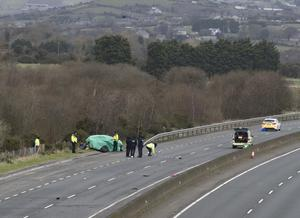 The scene of the crash in Co Louth