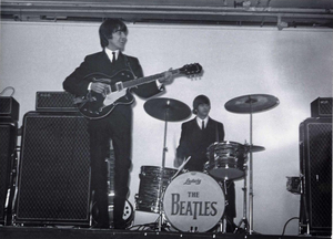 The Beatles on stage at the King's Hall, Belfast, back in November 1964