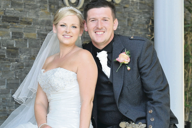 Former Cliftonville footballer Paul McKane and his Glaswegian wife Yvonne Coyle. They married five years after they first met in Majorca in 2008