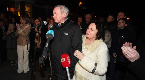Martin McGuinness and wife Bernie