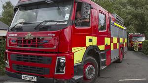 Firefighters from Coleraine, Portstewart, Portrush and Londonderry are dealing with the fire