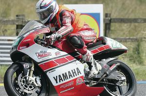 French rider Pierre Favre who is in a critical condition in hospital after a crash at the Ulster Grand Prix