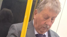 Rules breach: DUP MP Sammy Wilson failing to wear a mask on the London Underground