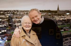 Martin McGuinness with his mum Peggy