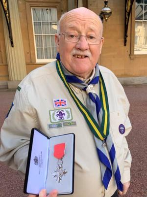 Billy Sholdis with his MBE