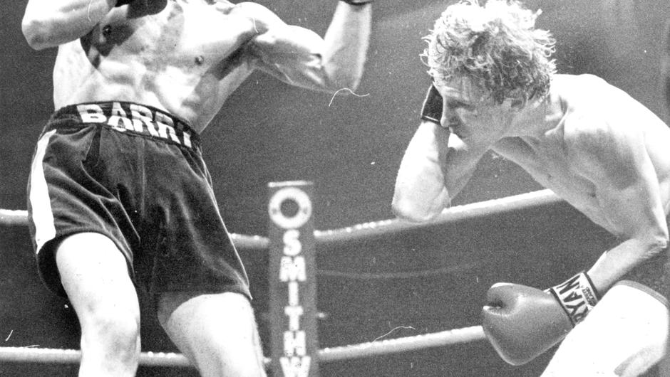 Barry McGuigan in action at The Ulster Hall