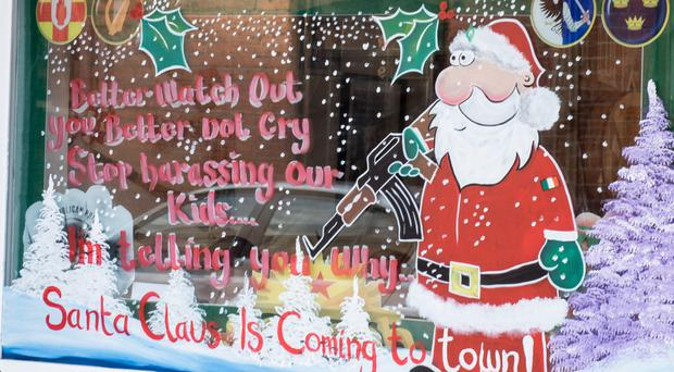 The controversial display in Londonderry