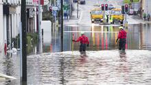 The clean-up operation in Newry after Thursday's floods