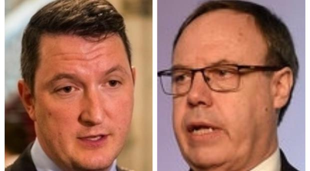 Sinn Fein's John Finucane and DUP deputy leader Nigel Dodds are the front runners in the North Belfast constituency (PA)