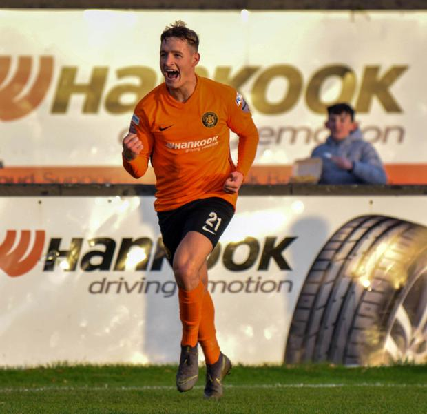 Gerard 'Jerry' Thompson in action for Carrick Rangers
