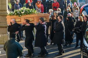 Derry star: The funeral of former Derry City player Willie Curran at St Eugene's Cathedral