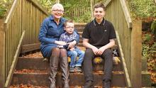 Family: Melanie Kennedy with her two sons, Josh and AJ