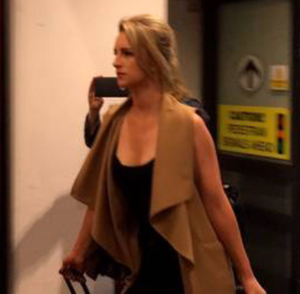 Michaella arriving back at Dublin airport