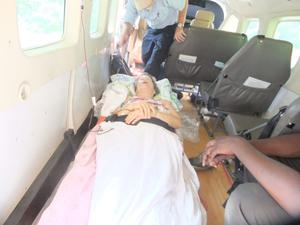 Maud is airlifted to hospital