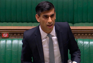 Chancellor Rishi Sunak in the Commons yesterday