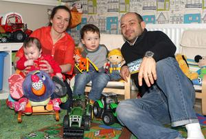 Rory Best and his wife Jodie with their children Ben and Penny
