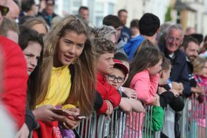 Young fans enjoying the events in Portrush