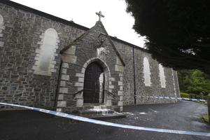 St Mary's Chapel in Ahoghill which was attacked with paint